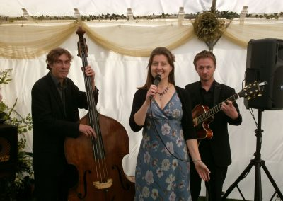 Eileen Johanna Jazz Trio wedding Marquee